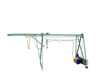 Подъемник строительный Умелец-М-320 с грузом (противовесом) Н=75 м